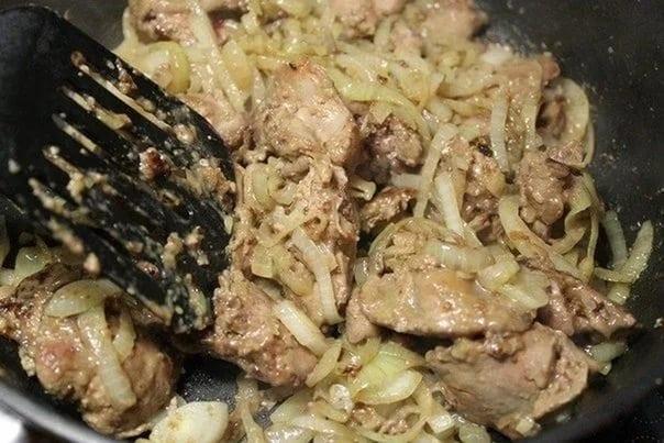Жареная куриная печенка рецепт с фото