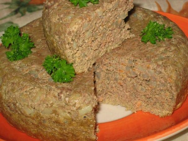 Печеночники из говяжьей печени с рисом рецепт